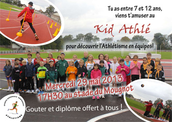 Kid Athlé Mercredi 29 Mai 2013 à 17h30