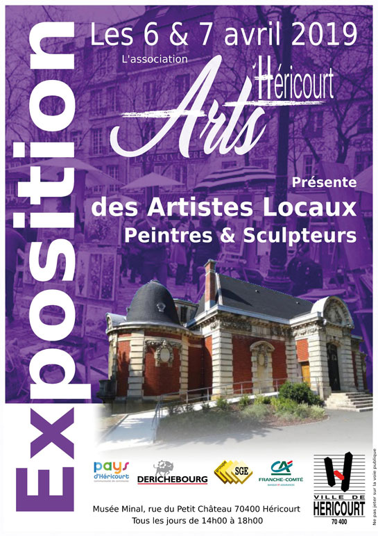 Les 6 et 7 Avril : Exposition Artistes Locaux
