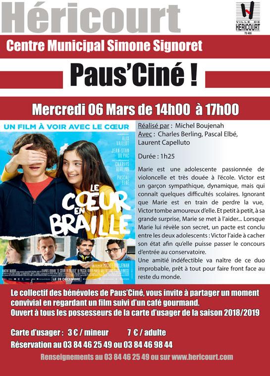 Paus'Ciné : LE COEUR EN BRAILLE 06 MARS 2019