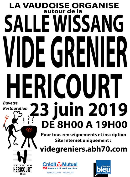 23 Juin 2019 : VIDE GRENIER Salle Wissang