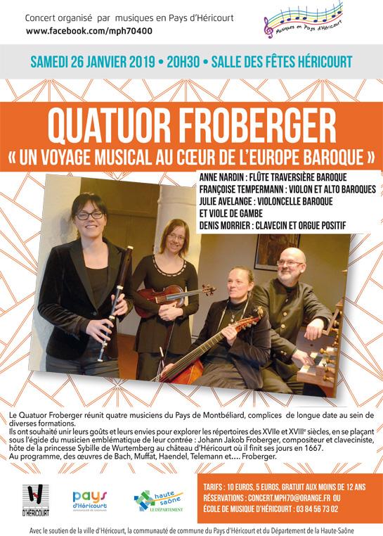 Samedi 26 Janv. 2019 : QUATUOR FROBERGER