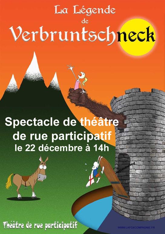 22 Décembre à 14h : Spectacle de théâtre de rue