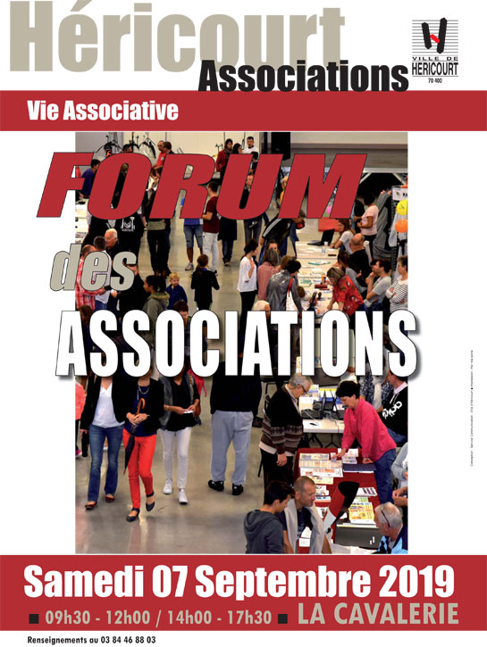 Samedi 7 Sept. : FORUM DES ASSOCIATIONS