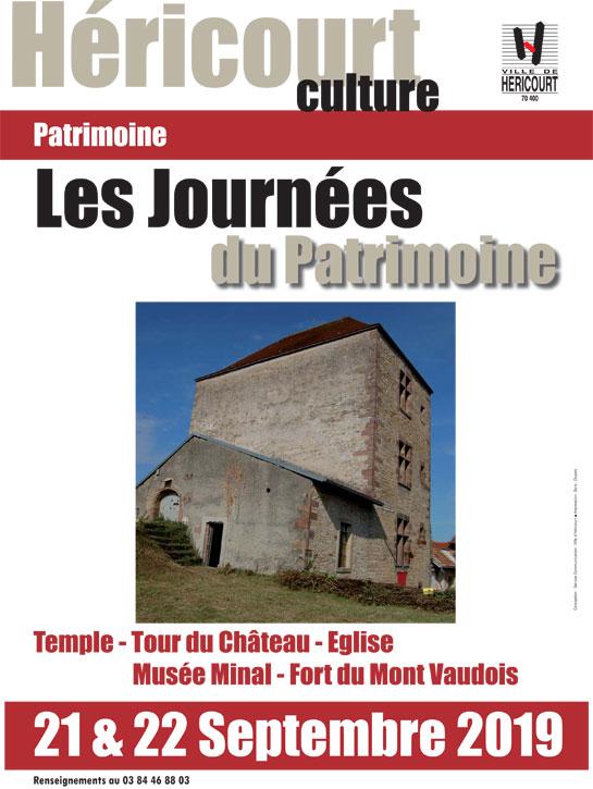 Les 21 et 22 Sept. : LES JOURNÉES DU PATRIMOINE