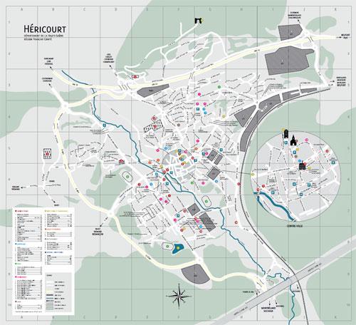 Plan de la Ville d'Héricourt - 70400