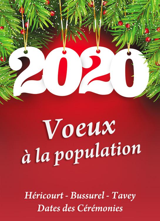 Voeux à la population 2020